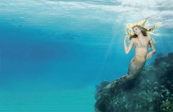 水中婚纱唯美大图